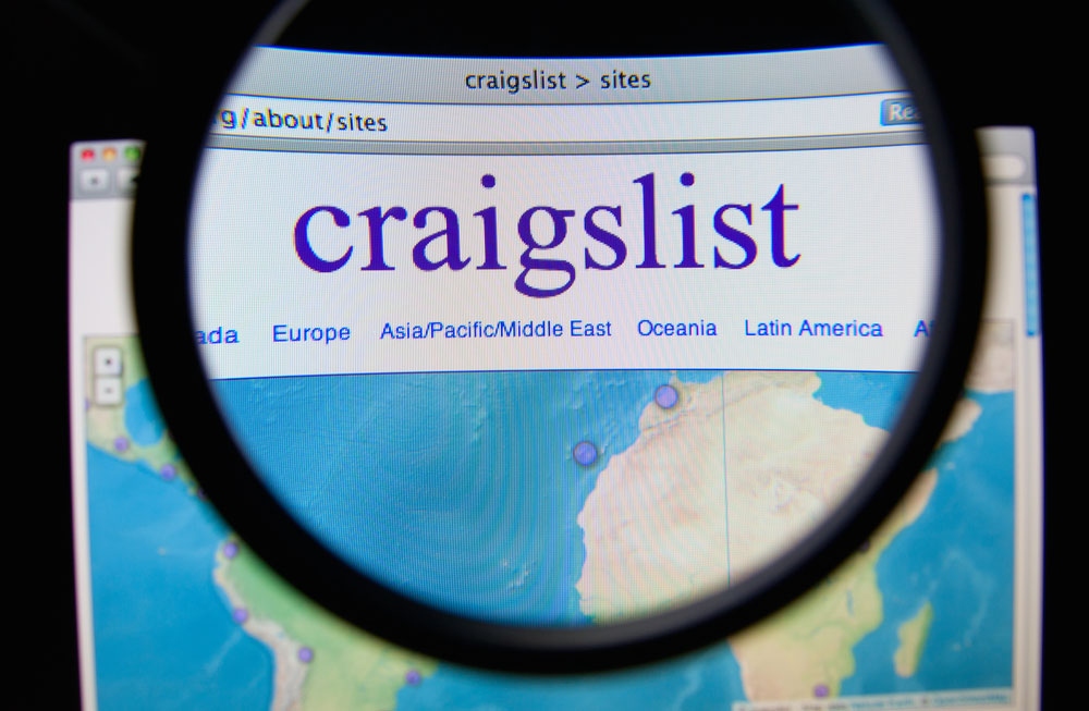 internet scam via craigslist and Google